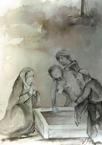 JESÚS ES COLOCADO EN EL SEPULCRO